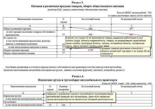 Форма 1 Статистика 2021 — как заполнять